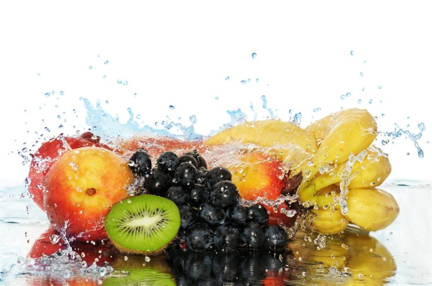 fresh fruit splashed